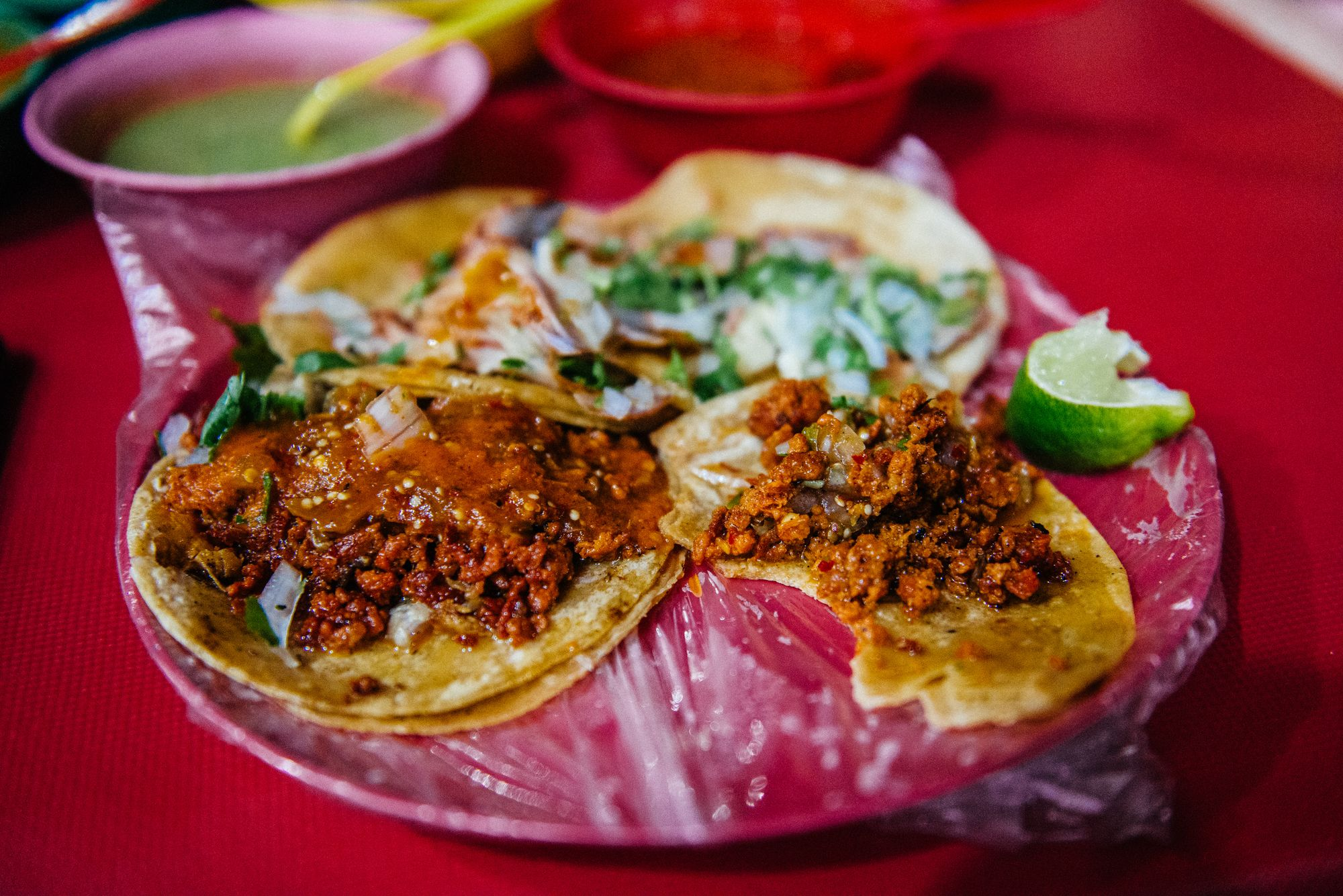 Photo of chorizo tacos.